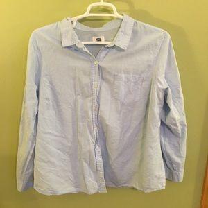 Blue Cotton Button Down